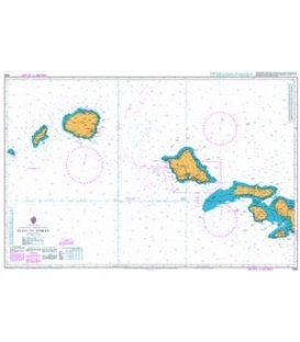 British Admiralty Nautical Chart 1308 Maui to Niihau