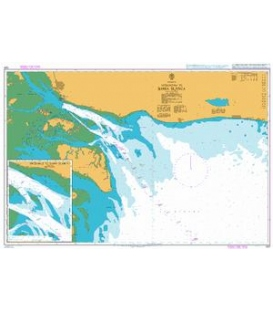 British Admiralty Nautical Chart 1331 Approaches to Bahia Blanca