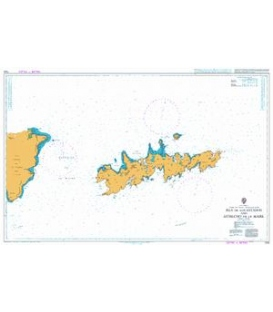 British Admiralty Nautical Chart 1332 Isla de los Estados and Estrecho de le Maire