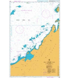 British Admiralty Nautical Chart 1338 Seria to Balabac Strait including Investigator Shoal