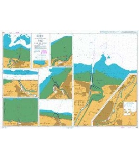 British Admiralty Nautical Chart 1349 Ports in the Baie de Seine