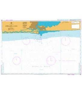 British Admiralty Nautical Chart 1381 Appoaches to Lagos
