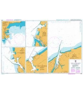 British Admiralty Nautical Chart 1388 Ports on the North Coast of Honshu