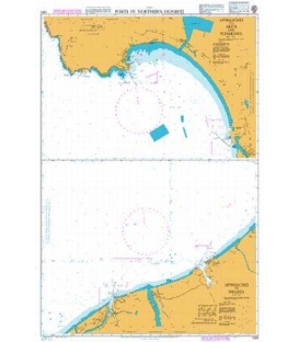 British Admiralty Nautical Chart 1390 Ports in Northern Honshu