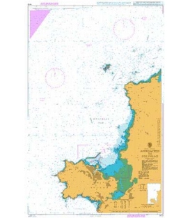 British Admiralty Nautical Chart 1413 Approaches to Holyhead