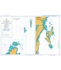 British Admiralty Nautical Chart 1419 Coco Channel and Northern Approaches to Port Blair