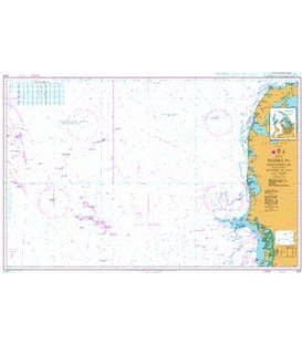 British Admiralty Nautical Chart 1422 Esbjerg to Hanstholm including Offshore Oil and Gas Fields