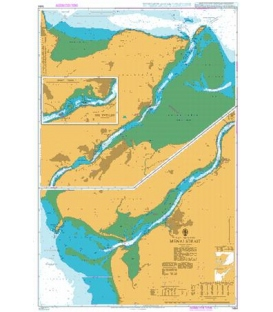 British Admiralty Nautical Chart 1464 Menai Strait