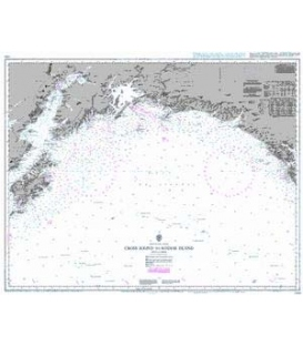 British Admiralty Nautical Chart 1499 Cross Sound to Kodiak Island