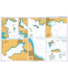 British Admiralty Nautical Chart 1531 Harbours in the Northern Dodekanisos