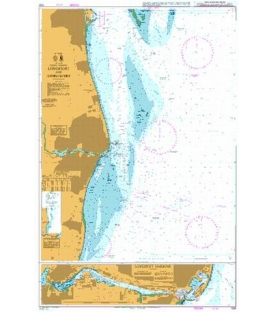 British Admiralty Nautical Chart 1535 Lowestoft and Approaches