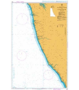 British Admiralty Nautical Chart 1564 Sacrifice Rock to Coondapoor