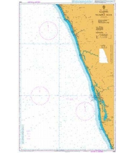 British Admiralty Nautical Chart 1565 Alleppey to Sacrifice Rock