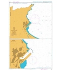 British Admiralty Nautical Chart 1567 Approaches to Annaba