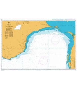 British Admiralty Nautical Chart 1586 Pamban to Cape Comorin