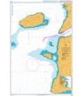 British Admiralty Nautical Chart 1608 Approaches to Canakkale Bogazi (The Dardanelles)