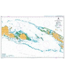 British Admiralty Nautical Chart 1709 Manning Strait