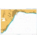 British Admiralty Nautical Chart 1850 Approaches to Malaga