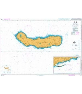 British Admiralty Nautical Chart 1895 Ilha de Sao Miguel