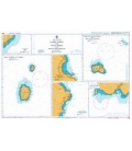 British Admiralty Nautical Chart 1959 Flores-Corvo and Santa Maria with Banco Das Formigas