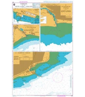 British Admiralty Nautical Chart 1991 Harbours on the South Coast of England