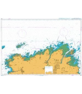 British Admiralty Nautical Chart 2027 Ile Grande to Ile de Brehat