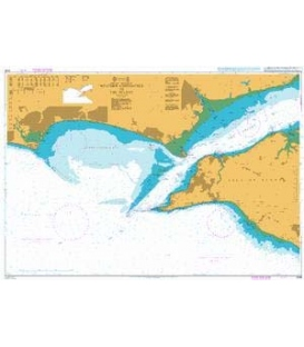 British Admiralty Nautical Chart 2035 Western Approaches to The Solent