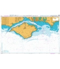 British Admiralty Nautical Chart 2045 Outer Approaches to The Solent