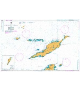 British Admiralty Nautical Chart 2047 Approaches to Anguilla