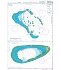 British Admiralty Nautical Chart 2068 Anchorages in the Maldives