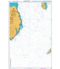 British Admiralty Nautical Chart 2093 Southern Approach to North Channel
