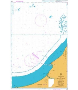 British Admiralty Nautical Chart 2100 Approaches to Bintulu Port