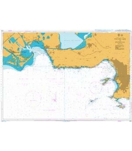 British Admiralty Nautical Chart 2116 Fos-Sur-Mer to Marseille