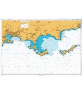 British Admiralty Nautical Chart  2120 Toulon to Cavalaire-Sur-Mer including Iles D'Hyeres