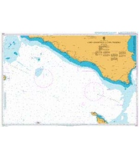 British Admiralty Nautical Chart 2123 Capo Granitola to Capo Passero
