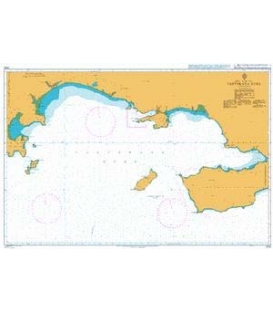 British Admiralty Nautical Chart 2130 Tauyskaya Guba