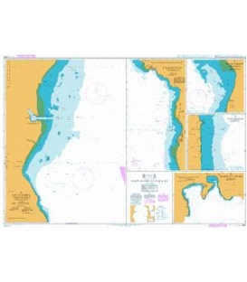 British Admiralty Nautical Chart 2132 Ports in the Gulf of Suez