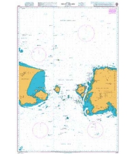 British Admiralty Nautical Chart 2137 Selat Gelasa