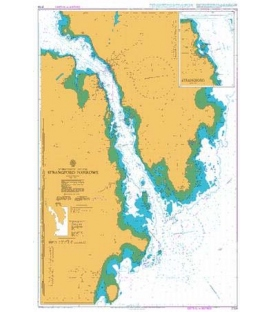 British Admiralty Nautical Chart 2159 Strangford Narrows