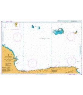 British Admiralty Nautical Chart 2192 Cabo Codera to Punta Aguide including the Outlying Islands