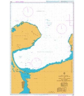 British Admiralty Nautical Chart 2194 Punta Macolla to Punta Gallinas including Golfo De Venezuela