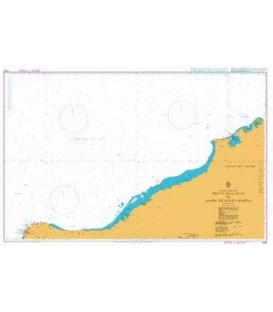 British Admiralty Nautical Chart 2195 Punta Gallinas to Bahia de Santa Marta
