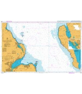 British Admiralty Nautical Chart 2198 North Channel Southern Part