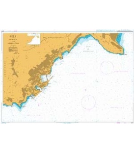 British Admiralty Nautical Chart 2244 Monaco and Approaches