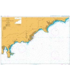 British Admiralty Nautical Chart 2245 Villefranche - sur - mer to Menton