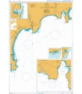 British Admiralty Nautical Chart 2246 Cap d'Antibes to Cap Ferrat (Including Baie des Anges and Rade de Villefranche)