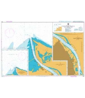 British Admiralty Nautical Chart 2261 Puerto Barranquilla and Approaches