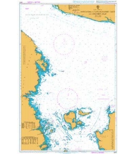 British Admiralty Nautical Chart 2274 Approaches to Kandalakshskiy Zaliv and Onezhskiy Zaliv