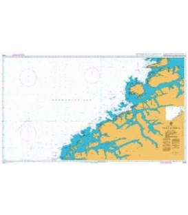 British Admiralty Nautical Chart 2306 Vigra to Froya