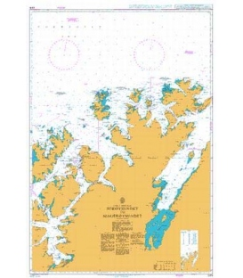 British Admiralty Nautical Chart 2315 Soroysundet to Mageroysundet